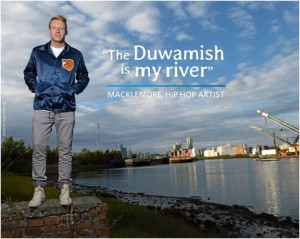 "Hip - hop artist, Macklemore, heads the "" A River for All "" awareness campaign . Photo: Jason Koenig"