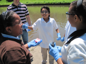 Water quality testing in Kansas City. Photo: Blue River Watershed Association