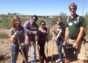 High School students help restore Monarch habitat. Photo: University of Arizona, Project WET